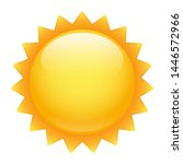 weather sun emoji symbol.... | Shutterstock .eps vector #1446572966