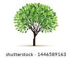 tree vector icon. logo design... | Shutterstock .eps vector #1446589163