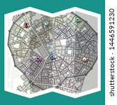 design map city gps with... | Shutterstock .eps vector #1446591230