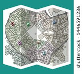 design map city gps with... | Shutterstock .eps vector #1446591236