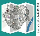 design map city gps with... | Shutterstock .eps vector #1446591239