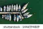 aerial top view photo of boats... | Shutterstock . vector #1446594809