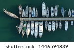 aerial top view photo of boats... | Shutterstock . vector #1446594839