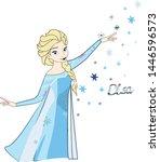 Snow Queen Elsa frozen illustration