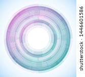 geometric frame from circles ... | Shutterstock .eps vector #1446601586