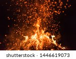 Burning Red Hot Sparks Fly From ...
