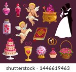 valentine day  wedding and... | Shutterstock .eps vector #1446619463