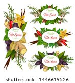 hot spices vector icons with... | Shutterstock .eps vector #1446619526