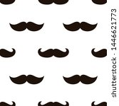seamless mustache pattern... | Shutterstock .eps vector #1446621773