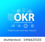 okr  objectives and key results ... | Shutterstock .eps vector #1446625103