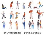 set of crowd diverse people... | Shutterstock .eps vector #1446634589