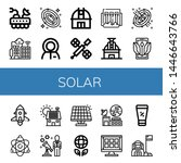 set of solar icons such as moon ... | Shutterstock .eps vector #1446643766