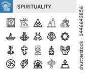 set of spirituality icons such... | Shutterstock .eps vector #1446643856