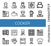 set of cooker icons such as... | Shutterstock .eps vector #1446643919