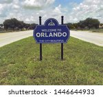 orlando florida welcome sign...   Shutterstock . vector #1446644933