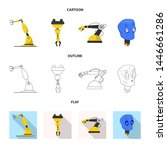 bitmap illustration of robot... | Shutterstock . vector #1446661286