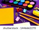 school office supplies... | Shutterstock . vector #1446662270