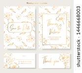 wedding invitation template... | Shutterstock .eps vector #1446668003