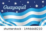 guayaquil word on the city flag ... | Shutterstock .eps vector #1446668210
