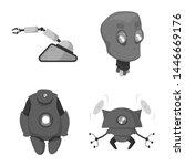 bitmap illustration of robot... | Shutterstock . vector #1446669176