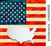 america flag paper texture | Shutterstock .eps vector #144668900