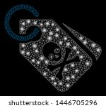 bright mesh death tags with... | Shutterstock .eps vector #1446705296