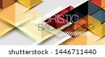 abstract geometric background.... | Shutterstock .eps vector #1446711440