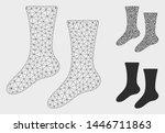 mesh socks model with triangle...   Shutterstock .eps vector #1446711863