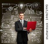 idea concept. business man in...   Shutterstock . vector #144671990