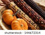 Pumpkins And Indian Corn...