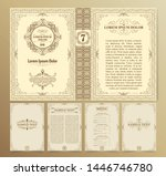 vintage book layouts and design ... | Shutterstock .eps vector #1446746780