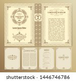 vintage book layouts and design ... | Shutterstock .eps vector #1446746786