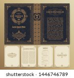 vintage book layouts and design ... | Shutterstock .eps vector #1446746789