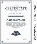 certificate of appreciation...   Shutterstock .eps vector #1446747500