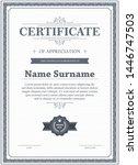 certificate of appreciation...   Shutterstock .eps vector #1446747503