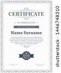 certificate of appreciation...   Shutterstock .eps vector #1446748310