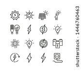 energy line icons. set of line... | Shutterstock .eps vector #1446760463