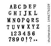 uppercase alphabet. latin... | Shutterstock .eps vector #1446776339