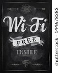 poster lettering wi fi free... | Shutterstock .eps vector #144678383