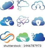 set of it cloud vector icon... | Shutterstock .eps vector #1446787973