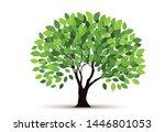 tree vector icon. logo design... | Shutterstock .eps vector #1446801053