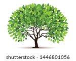 tree vector icon. logo design... | Shutterstock .eps vector #1446801056