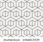 seamless vector pattern.... | Shutterstock .eps vector #1446813539