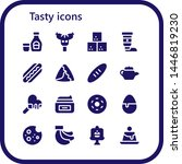 tasty icon set. 16 filled tasty ... | Shutterstock .eps vector #1446819230
