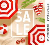 summer sale beach background... | Shutterstock .eps vector #1446824186