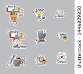 back to school stickers. signs  ... | Shutterstock .eps vector #1446829850