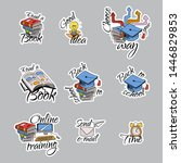 back to school stickers. signs  ... | Shutterstock .eps vector #1446829853