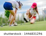 Young Woman Golf Player Feel...