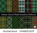 set  tartan plaid scottish... | Shutterstock .eps vector #1446831629