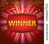 winner congratulations vintage...   Shutterstock .eps vector #1446837923